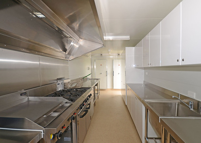 commercial mobile kitchen floor plan stainless